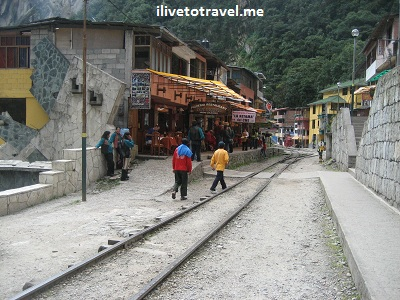 Town of Aguas Calientes in Peru, gateway to Machu Picchu