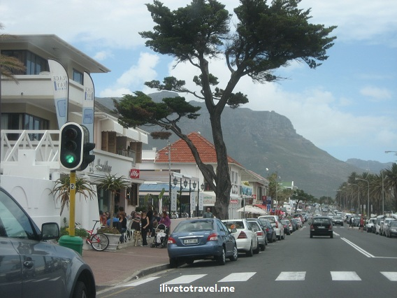 Driving through the beach towns south of Cape Town, South Africa