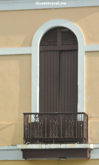 Beautiful simple balcony in Old San Juan, Puerto Rico