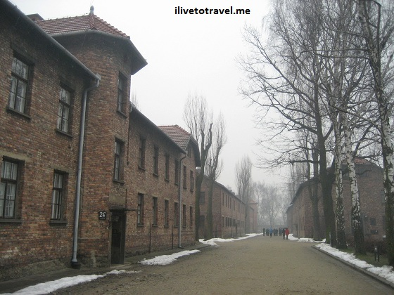 Building in Auschwitz concentration camp in Poland, near Krakow