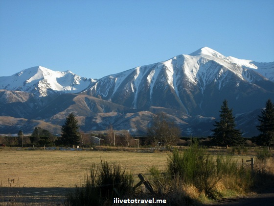 Canterbury mountain landscape in New Zealand's Southern Alps