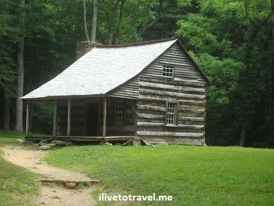 The Carter Shields Home at Cades Cove in the Great Smoky Mountain National Park