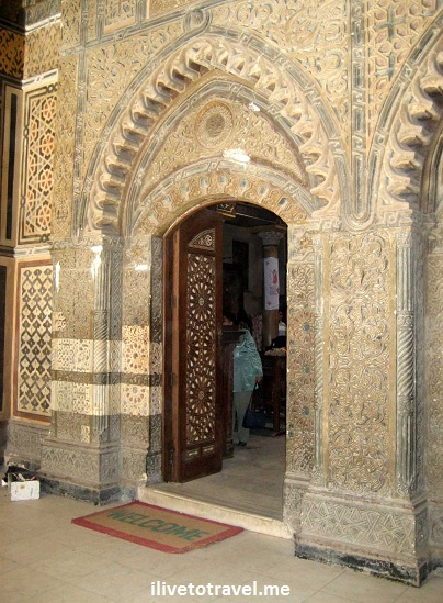 Doorway in the Hanging Church in Cairo, Egypt