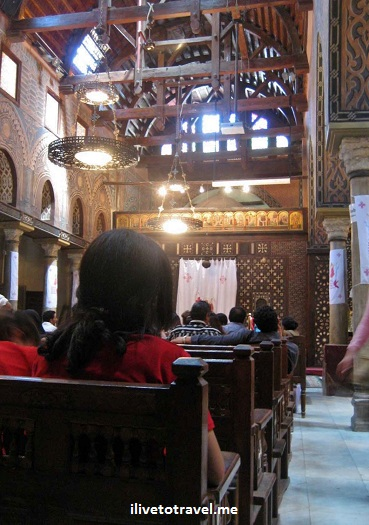 Interior of the Hanging Church in Cairo, Egypt