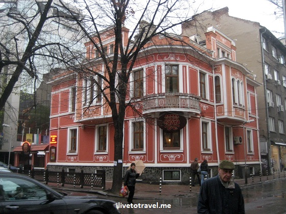 Building in Sofia, Bulgaria - neat color and architecture