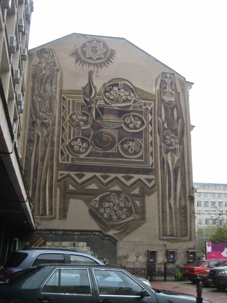 Art mural in Sofia, Bulgaria