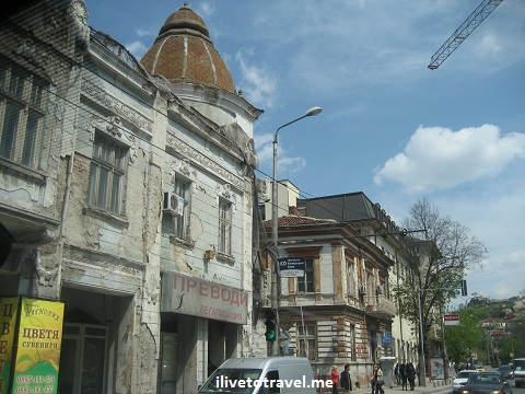 Building in need of repair in Plovdiv, Bulgaria
