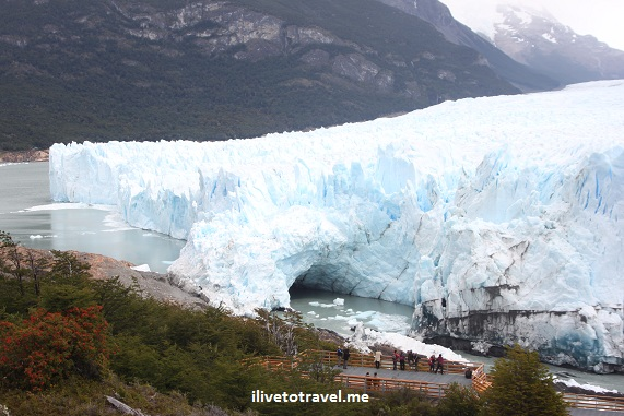 The kiss of Perito Moreno Glacier in Argentina's Patagonia near El Calafate