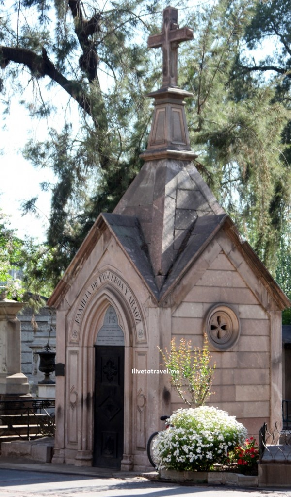 Mausoleum in the Cementerio General de Santiago in Chile