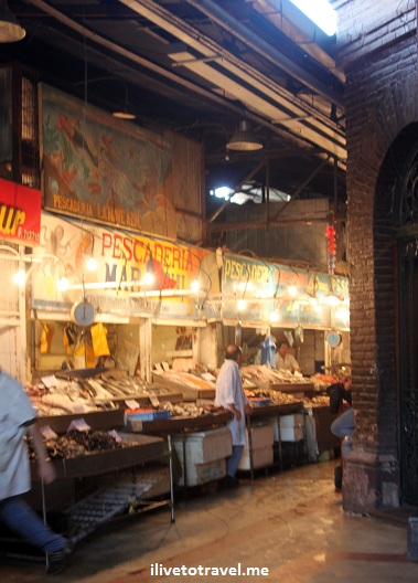 The Mercado Central in Santiago, Chile