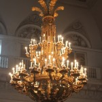 Chandelier in The Hermitage in St. Petersburg, Russia