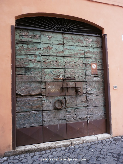 Doorway in the Trastevere in Rome, Italy