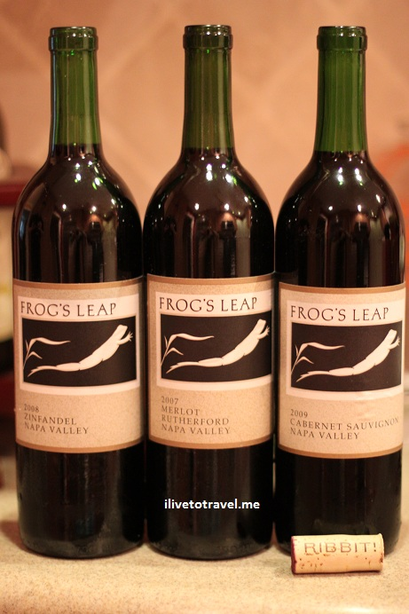 Bottles of Frog's Leap red wines