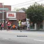 Runners at the front of the pack at Atlanta's Peachtree Road Race