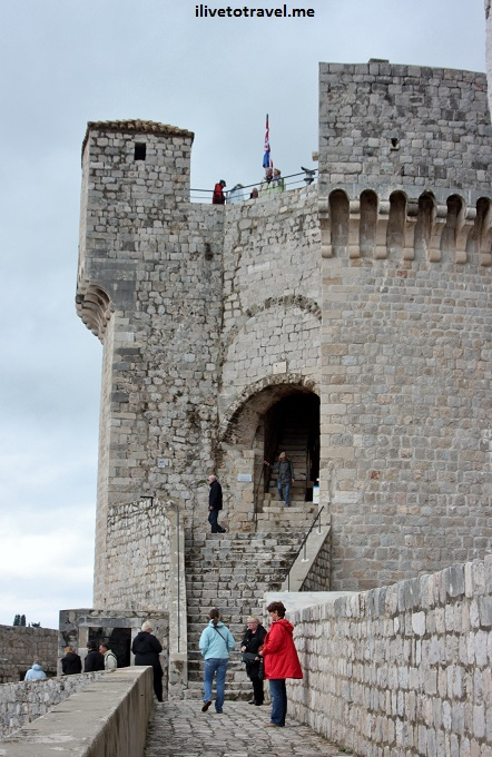 Along the city walls of Dubrovnik, Croatia