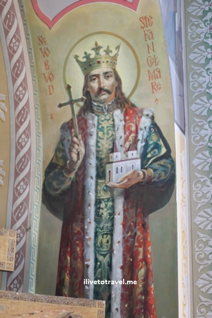 Capriana Monastery in Moldova - Image of Stefan cel Mare (Stephen the Great)