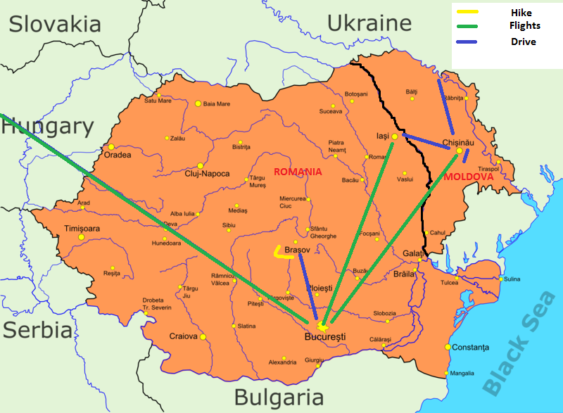Romania Moldova Map
