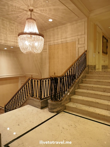 Elevator lobby at the Mayflower Hotel in Washington D.C. in the former apartment tower