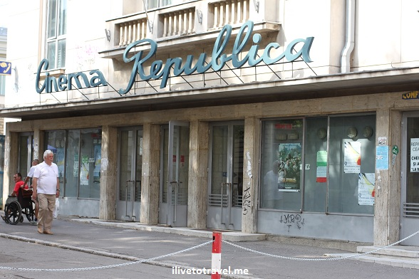 Movie theater, or cinema, in Iasi, Romania