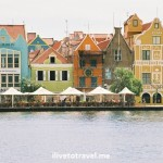 Waterfront architecture in Punda in Willemstad, Curacao