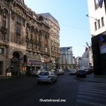 Calea Victoriei, one of the main streets in Bucharest, Romania