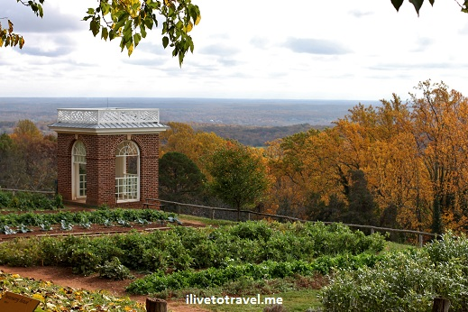 Monticello gardens and crop plots in Virginia