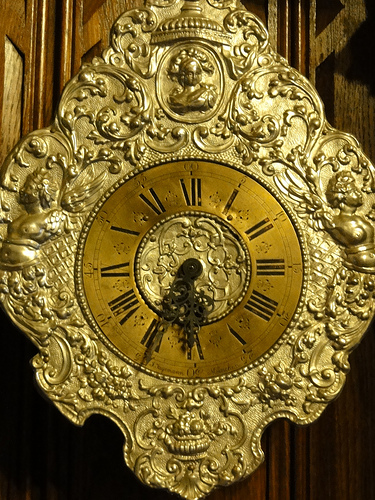 Clock at Peles Castle in Romania