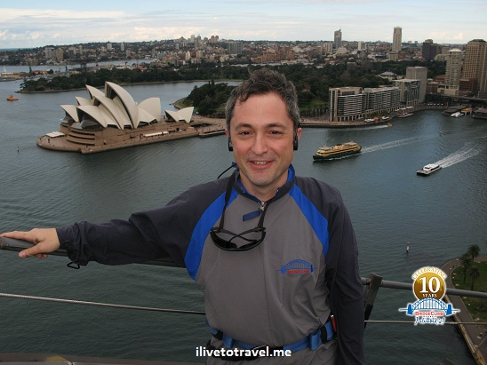 Climb of the Sydney Harbor Bridge in Australia with Opera House in the background