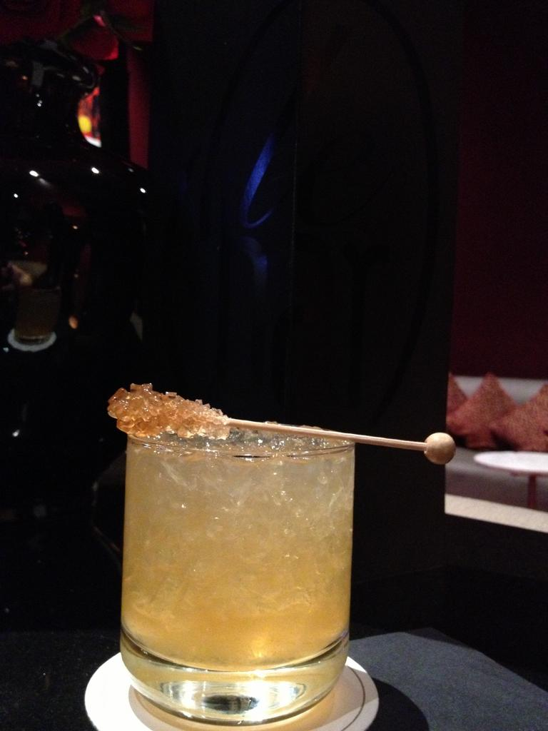 Spiced rum cocktail at Sofitel Lafayette in DC
