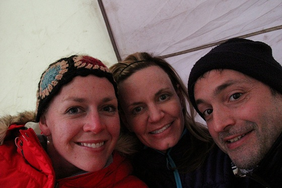 Trekkers happy in Mt. Kilimanjaro