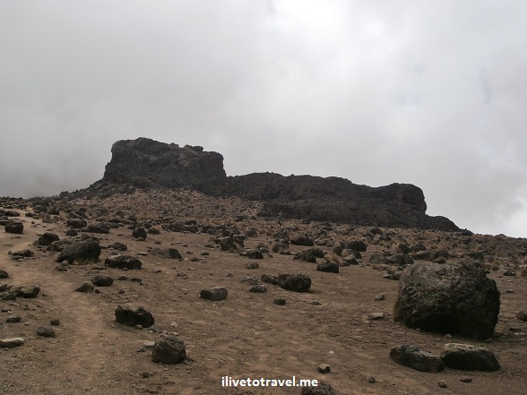 Alpine desert in Mt. Kilimanjaro near the Lava Tower
