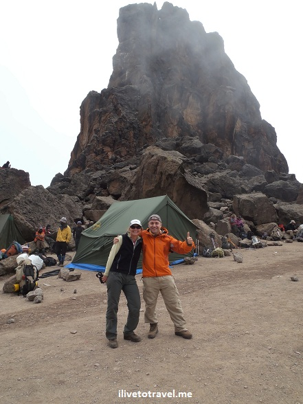 At the Lava Tower in Mt. Kilimanjaro