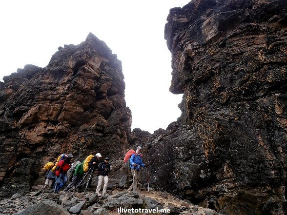 Exiting the Lava Tower Camp area in Mt. Kilimanjaro