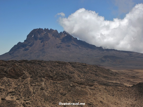 Mt. Mawenzi, one of the 3 peaks on Kilimanjaro