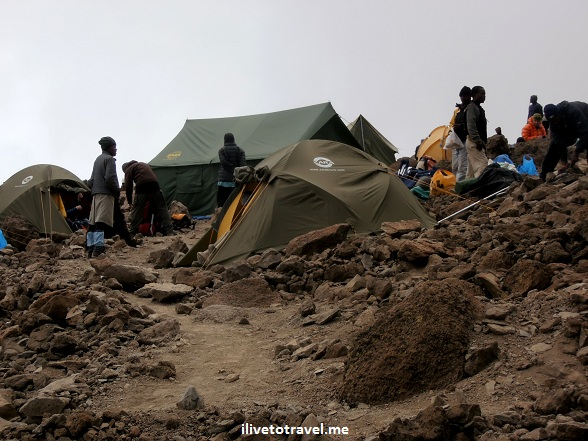 Barafu Camp in Mt. Kilimanjaro's Machame Route