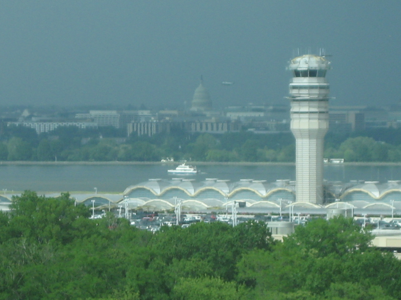 View of Reagan National and the Capitol from the Arlington Renaissance Hotel