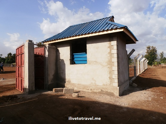 Guardhouse at the site of the new Kili Centre