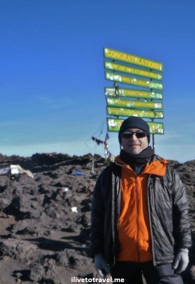 At Uhuru Peak, the summit of Kilimanjaro
