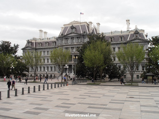 The Old Executive Building on the west side of the White House