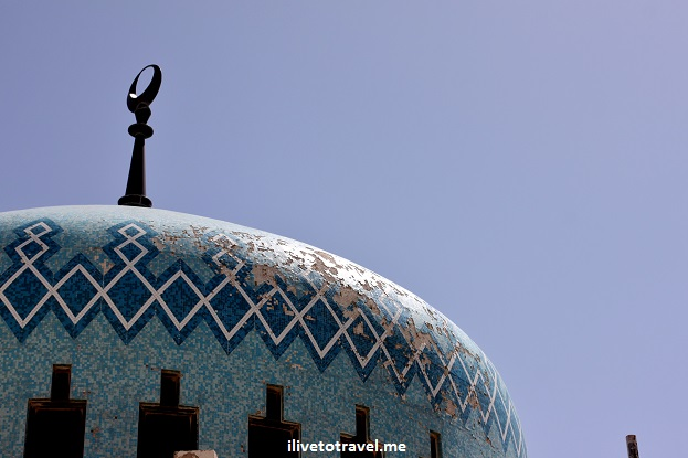 King Abdullah Mosque blue Amman, Jordan