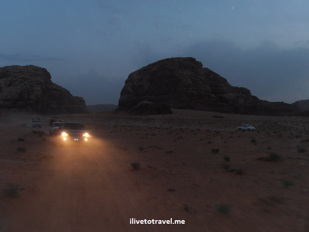 """Wadi Rum"" sunset night light desert Jordan travel photo"