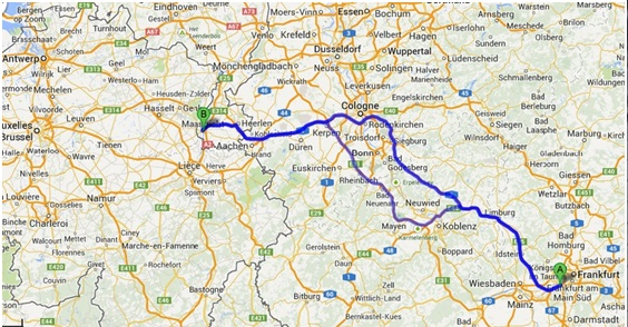 Map My Route Germany – German Autobahn Map